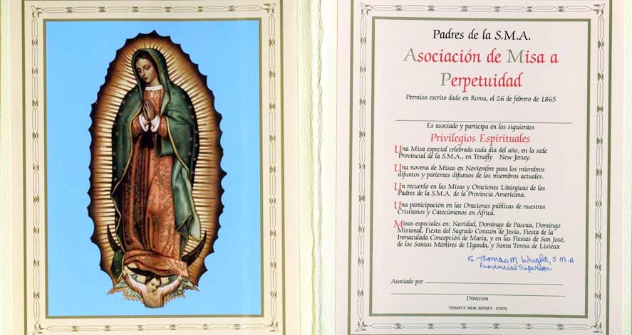 asociacion de misa a pertpetuidad