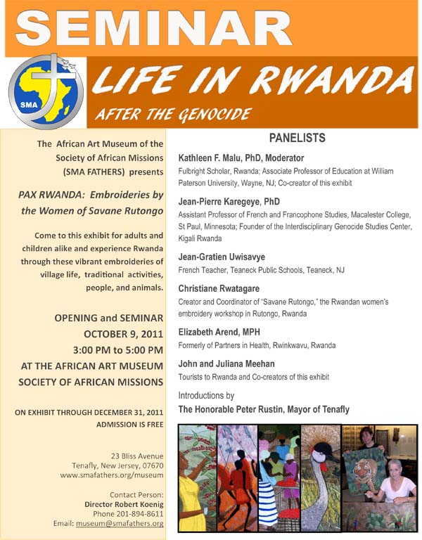 Seminar Life in Rwanda After the Genocide