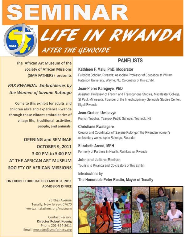 Seminar Life in Rwanda After the Genocide