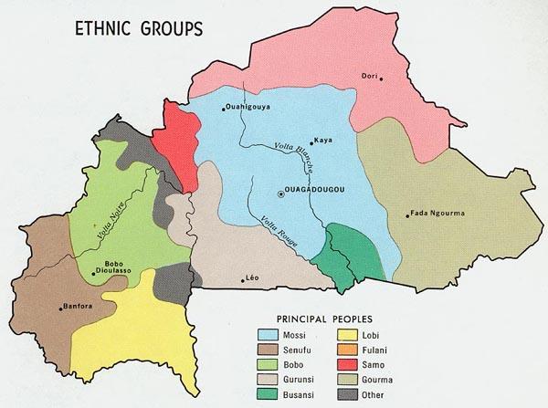 BurkinaFaso Ethnic Groups map
