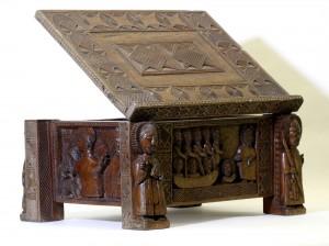 Carved Altar Missal Stand by George Bandele.