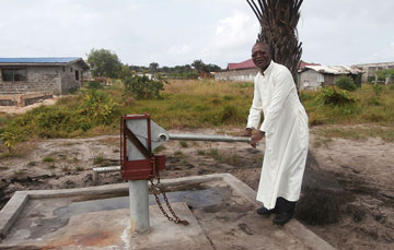 Water well at st mukasa